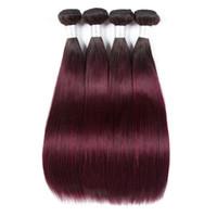 Wholesale per hair for sale - Group buy Fashion Lady Per colored Brazilian Straight Hair Bundles b j Human Hair Extensions Ombre Non remy Hair Weave Bundles