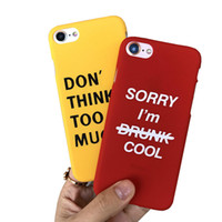 Wholesale Idea Red - Simple English alphabet phone case cover for iPhone7 plus mobile phone shell Apple 6   6s ultra-thin matte shells creative ideas