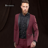 a5c16d030fe yiwumensa Latest Coat Pant Designs Jujube red wedding suits for men tuxedo  traje formal hombre men s suit groom wedding Suit