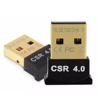 csr usb venda por atacado-Mini USB Bluetooth Adaptador V 4.0 Dual Mode Sem Fio dongle CSR 4.0 para Win10 win8 / 7 XP