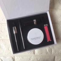 Wholesale color brand eyeliners online - HOT Brand Makeup set Kollection Lipstick Lip Gloss Eyeliner Pencil Mascara bloom perfect moist cushion in1 SET makeup kit Gift box DHL