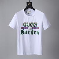 Wholesale mans brand names clothing - Hot cotton new 2017 men's summer T-shirt XL shirt short-sleeved t-shirt printing cotton T-shirt men's brand-name clothing M-3XL