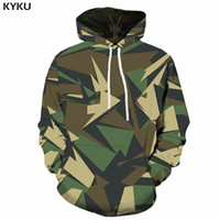 93970c92b8491 KYKU Green Camo Hoodie Men Camouflage 3d Hoodies Anime Clothes Geometry Print  Sweatshirt Gothic Mens Clothing Pullover