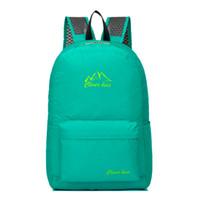 sırt çantaları koreası toptan satış-Kore Tarzı Açık Spor Sırt Çantası Büyük kapasiteli Su Geçirmez Yürüyüş Seyahat Çantası Katlanabilir Küçük çanta 5 Renkler Backbag L35 dönüşmek