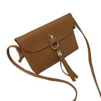 7a1249952bc4 Vintage Tassel women s Shoulder bags luxury handbags women bags designer  Preppy Style Bag Mini Messenger for women 2018