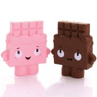 Wholesale boy girl soft toys online - New cm Jumbo Chocolate Boy Girl Squishy Cream Scented Pendant Soft Slow Rising Kids Gift Toy Moblie Phone Straps