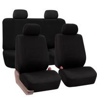 rote schwarze sitzbezüge großhandel-Universal PolyCloth Auto Sitzbezug Kissen Pad Schutzhüllen für Audi BMW Honda Toyota Jaguar Kia Autos Sitzbezüge