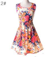 dresses shipped china 2018 - Freeing-Newest fashion Women Casual Dress Plus Size Cheap China Dress 19 Designs Women Clothing Fashion Sleeveless Summe Dress Free Shipping
