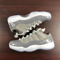 Wholesale Cool Skateboarding Shoes - Newest 2088JORDAN 11 Low Cool Grey Basketball Shoes For Men Authentic Sneakers Joint Release 2018 Real Carbon Fiber Sports Shoes 8-13