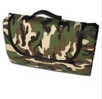 Wholesale self inflating camping mats resale online - 120pcs AOTU Outdoors Camping Mat D Oxford PE Sleeping Mats Moistureproof Mat Picnic Blanket Pure Colors Camouflage Ten Sheet