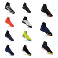 Wholesale indoor outdoor turf - 2018 Men indoor Soccer shoes Top soccer cleats Hypervenom Phantom III IC TF Turf high ankle Mens football HypervenomX Proximo