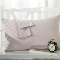 ingrosso biancheria bianca rossa-2 pz / lotto tinta unita copertura del cuscino rettangolo letto federa rosso / bianco / rosa 100% cotone twill casa federa decorativa