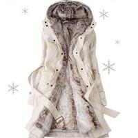 veste thermique femme mince achat en gros de-Nouveau Automne Hiver Femmes Coton Manteaux Moyen Long Ouaté Veste Slim Thermique Chaud Parkas Casual Quilt Revêtement