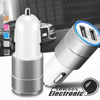 coches rápidos al por mayor-Cargador de coche, 3.1A Puerto USB dual Cargadores Cargador de viaje portátil Adaptador automático rápido para iPhone 6 Plus / 6 / 5S / 5/4, iPad, Samsung Galaxy