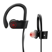 Wholesale wireless headphones mic for phone online - DXVROC Bluetooth Headphones Headset Mic Earphones Wireless Sports Headphone for S9 Plus IPX7 Sweatproof Heavy Bass Stereo Headset