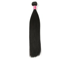 Wholesale brazilian hair extensions online - 1 Bundle g Brazilian Straight Hair Cheap Human Hair Extensions Brazilian Hair Weave Bundles