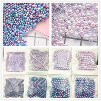 Wholesale Pearl Nail Stickers - 500pcs bag 2017 New Japan 3D Nail Art Decoration Colorful Nail Sticker Gradient Color Pearl Nail Tools for Maincure