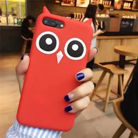 Wholesale Owl Silicone Phone Case - Owl Silicone Case For iPhone X 8 Plus 6 6S 7 Plus 5 5S SE Fashion Funny Soft Cartoon Mobile Phone Skin Cover DHL Wholesale