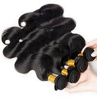 rabatt menschenhaar weben großhandel-Begrenzte Zeit Rabatt Brasilianische Schwarze Farbe Körperwelle Haar 100% Brasilianische Remy Menschliche Haarwebart 6a Unverarbeitete Reine Haarverlängerungen