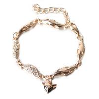 Wholesale Drills Retro Bracelets - The small fox hollow diamond bracelet fashion personality Water drill dripping hand ornament Retro ornaments