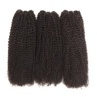 cor do cabelo da índia venda por atacado-Grau 10a India Kinky Curly Hair Weave Bundles Cor Natural 130 densidade Feixes de Cabelo Humano 8-30 Polegada Remy Extensão Do Cabelo Humano