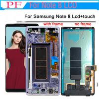samsung galaxy amoled venda por atacado-100% ORIGINAL SUPER AMOLED Display LCD Touch Screen Digitador Substituição para Samsung Galaxy Note 8 N950 com frame + Repair Tool