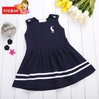 Wholesale Military Gowns - Retail Fashion 2017 Baby Girl Dress Kids Summer Dresses Girls Brand Dress Princess Baby Dress Free SV017190 30