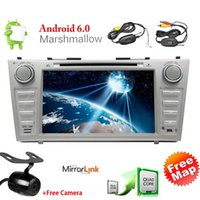 Wholesale car dvd android toyota for sale - Group buy Android Marshmallow Car DVD Player for TOYOTA CAMRY Double Din Car Stereo GPS Navigation Touch Screen Car Radio Headunit Bluetooth