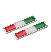 наклейки для автомобилей оптовых-Стайлинга автомобилей сторон наклейки Италия флаг новая пара металл этикетка 3D автомобилей наклейки авто металл эмблема WRC подходит для Renault