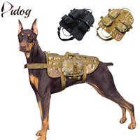 Wholesale Tactical Dog Harness Military Pet Harness K9 Dogs Trainning Walking Hiking Hunting Vest For Medium Large Dog