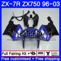 satılık zx kaplama toptan satış-KAWASAKI NINJA ZX 7R ZX750 ZX7R 96 97 98 99 203HM.8 satılık siyah ZX-750 ZX 7 R ZX 750 ZX-7R Mavi 1996 1997 1998 1999 2003 Fairing