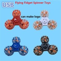 Wholesale Great Flying - 2018 newest Fidget Spinner Hand Flying Fidget Spinner Flying Spinning Top Toy For Autism Anxiety Stress Release Toy Great funny Gift z189