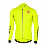 Wholesale Cycling Jerseys Shipping - 2018 man c-astelli bicicleta keep warm bike cycling jersey winter Ropa Ciclismo MTB 9d cycling tops free shipping custom Outdoor sportswear