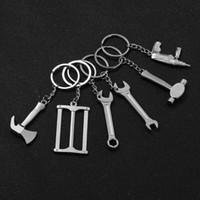 mini-schlüssel schlüsselbund großhandel-1 Stücke Neue Mini Kreative Schraubenschlüssel Schlüsselanhänger Werkzeug Autoschlüssel ring Schlüsselbund