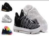 Wholesale kd kids - Sales KD 10 Oreo Black White men women kids shoes Store Kevin Durant Basketball shoes free shipping Wholesale prices 897815-001