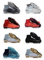 venta de botas para niños al por mayor-Zapatos de fútbol para hombres y niños de venta caliente Botas de fútbol Mercurial CR7 Superfly V FG Botines de fútbol para jóvenes Magista Obra 2 Women Cristiano Ronaldo NIKE FOOTBALL boots