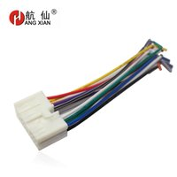 Wholesale dvd elantra - Car DVD player Male ISO car Radio Plug Power Adapter For Sonata Elantra Tucson ISO harness power cable GPS
