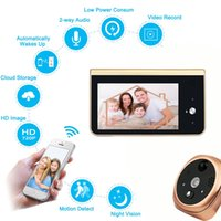 Wholesale security cameras doorbells - Battery 2.4GHz Wifi Smart Peephole Video Doorbell 720P HD security Camera with Real-time Video and Two-way Talk Night Vision Motion Detector