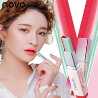 Wholesale two lipsticks for sale - Novo New Fashion Matte Lipstick Brand Beauty Lips Makeup Two Tone Gradient Lipstick Korean Bite V Cutting Colors Lip Gloss Cosmetic