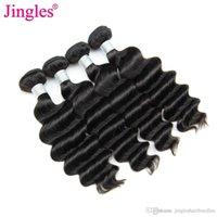 en iyi saç paketleri toptan satış-JinglesHair 9A En Iyi Hint Remy İnsan Saç Paketler Gevşek Derin Dalga Ham Hint Bakire Saç Demetleri Toptan Örgüleri Fiyatları Tırnak Hizalanmış