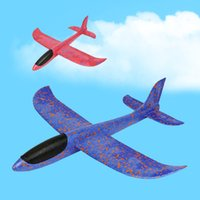 Wholesale toy glider planes kids - Foam Hand Throwing Launch Glider Inertia Air Plane Aircraft Toy 48cm Airplane Model Outdoor Sports Flying Toy For Kids Gift 10mn Z