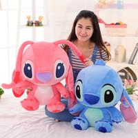 bolsos de piel azul al por mayor-33cm Kawaii Stitch Plush Doll Toys Anime Plush Toys Regalos para Niños Niños Cumpleaños