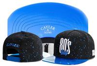 nouveaux hommes snapback achat en gros de-Nouveau Cayler Sons noir en cuir Snapback chapeau fleur sport hip hip os de baseball snapback casquettes pour hommes femmes gorras sun era hat
