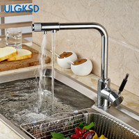 Wholesale Purified Filtered Water - Ulgksd Chrome Brass Pure Water Kitchen Sink Faucet Swivel Spout purified water faucet filter taps Purification Mixer Tap