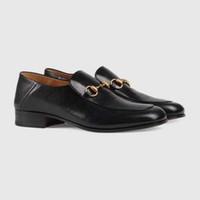 italyan moda ayakkabıları toptan satış-Mix 20 modelleri İtalyan Lüks Tasarımcı deri elbise ayakkabı Üst Deri düğün parti erkekler ayakkabı süet moda loafer'lar topuk ayakkabı boyutu 38-44