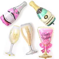 gelbe feder boa großhandel-Sehr große Champagne Cup Bierflasche Luftballons Aluminiumfolie Helium Hochzeit Praktische Ballons Partei Geburtstag Hochzeit Hen Night-Dekor