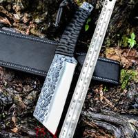 cuchillos mtech al por mayor-Cuchillo de cuchilla recta de alta dureza forjada a mano al aire libre cuchillo de supervivencia portátil sable ks18