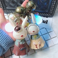 Wholesale led jewelry lights for sale - Group buy Creative light bulb rabbit key ring cute doll car key chain personalized jewelry pendant