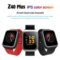 Wholesale high power camera - Z40 Plus IPS color screen smart heart rate bracelet 350mAh high power polymer battery IPS Smart Wristbands for iphone Android