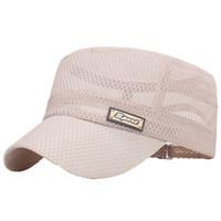 ingrosso cappelli piatti di caccia-New Hiking Hat Camping Baseball Caccia e pesca Mountain Hat Sport all'aria aperta Baseball Flat Flat Cap in cotone